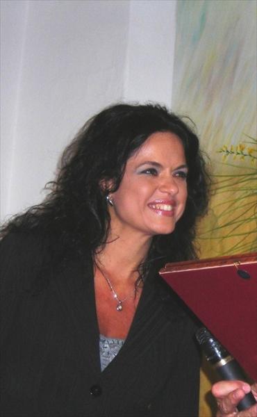 La pittrice Rita Petti