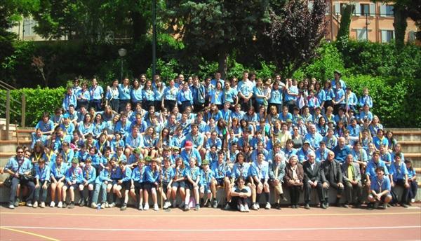 Foto di gruppo degli Scout al Costone