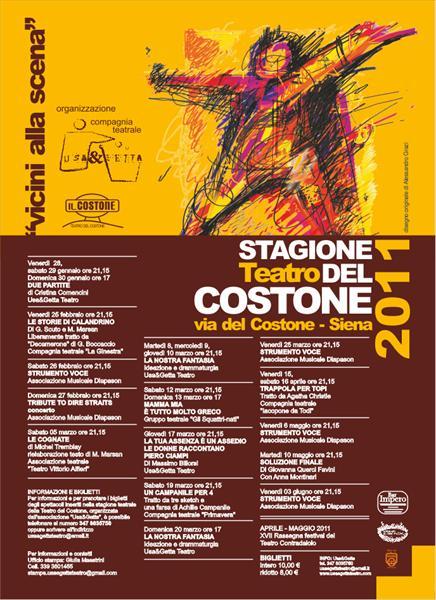 Manifesto Stagione 2011 - Teatro del Costone