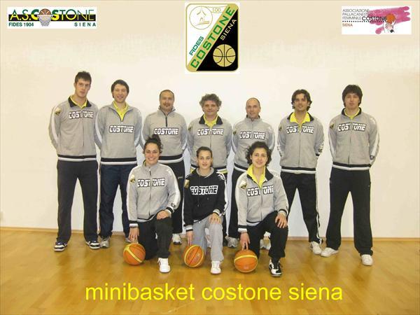 Istruttori Minibasket Costone Fides