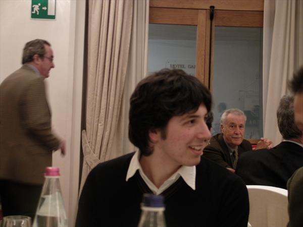 Giulio Valenti durante la cena