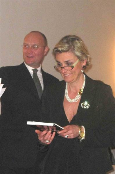 Alessandra Muzzi assieme al presidente della Società Canottieri Limite sull'Arno Filippo Busoni