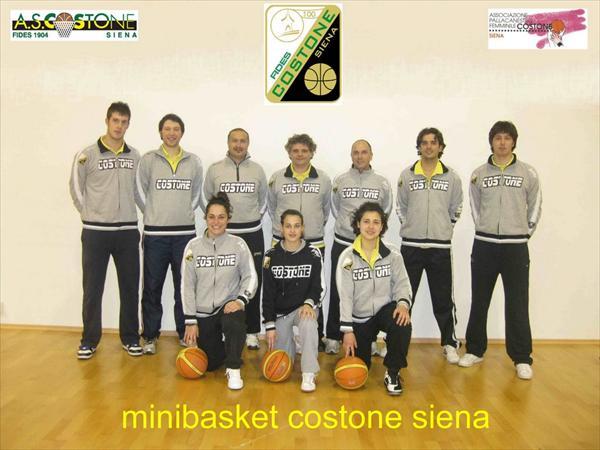Foto Istruttori Minibasket Costone Fides