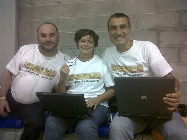 La troupe di Costone Channel: Vincenzo, Anna e Bobbe a Altopascio nella prima di andata del campionato DNC 2011-2012