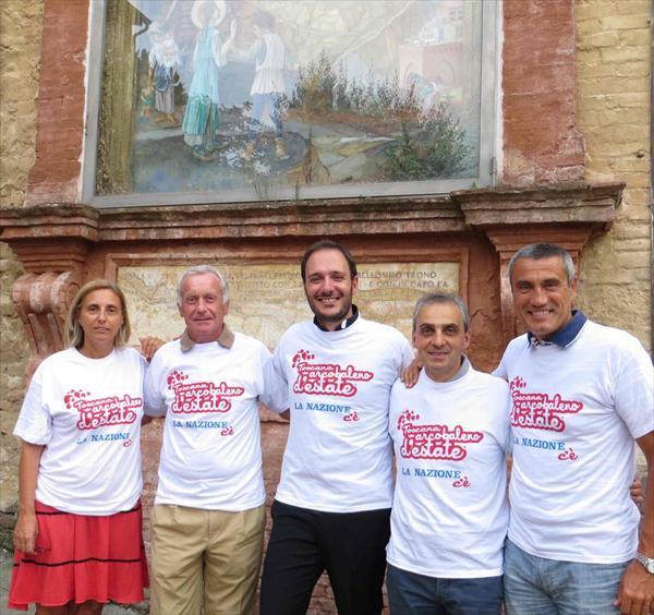 Patrizia Morbidi, Daniele Frignani, Don Emanuele Salvatori, Massimo Bianchi e Roberto Bruttini