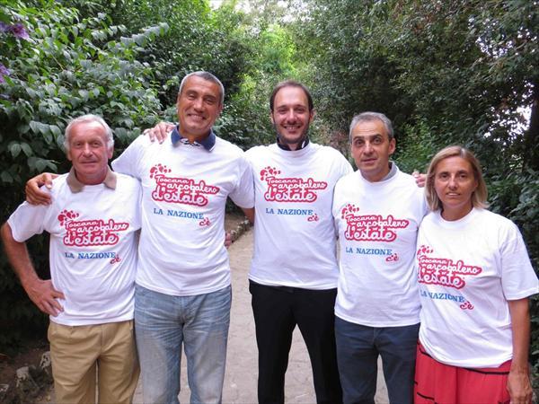 Daniele Frignani, Roberto Bruttini, Don Emanuele Salvatori, Massimo Bianchi e Patrizia Morbidi