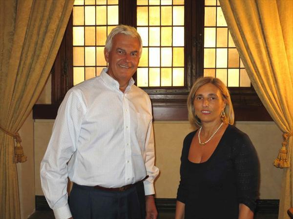 Patrizia Morbidi e Alessandro Profumo