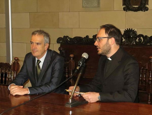 Bruno Valentini e Don Emanuele Salvatori