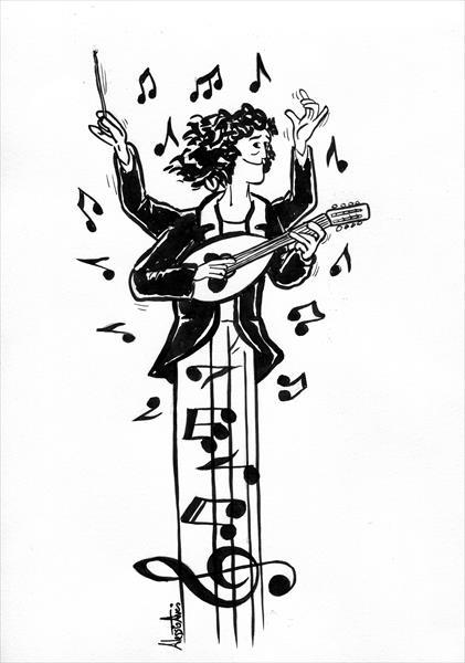 Caricatura Marta Marini