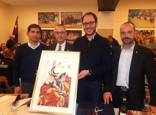 Priore e Presidenti con il dono della Torre