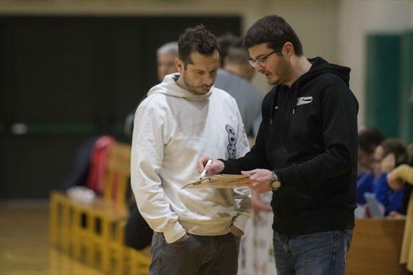 Coach Fattorini e il vice Borsi