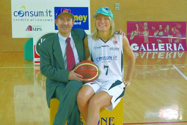 Massimo carli con la giocatrice Alessandra Balestra