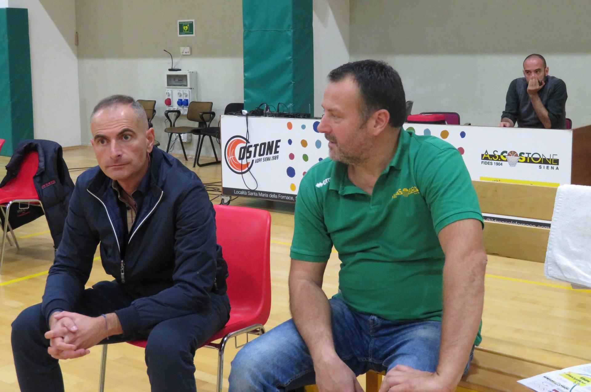 Coach Braccagni con il DS Naldini