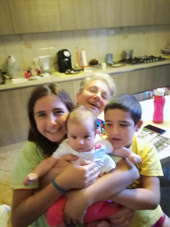 Caterina coi nipoti