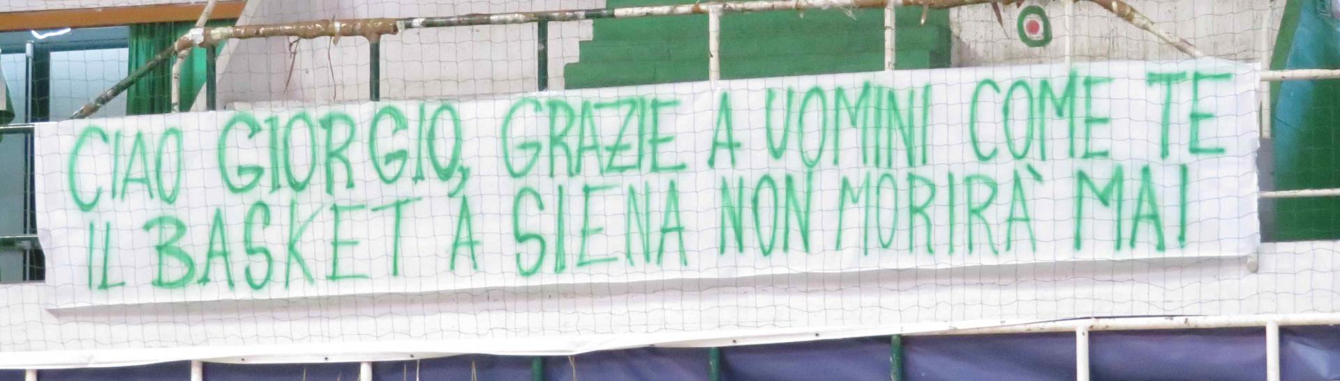 Striscione Giorgio Brenci