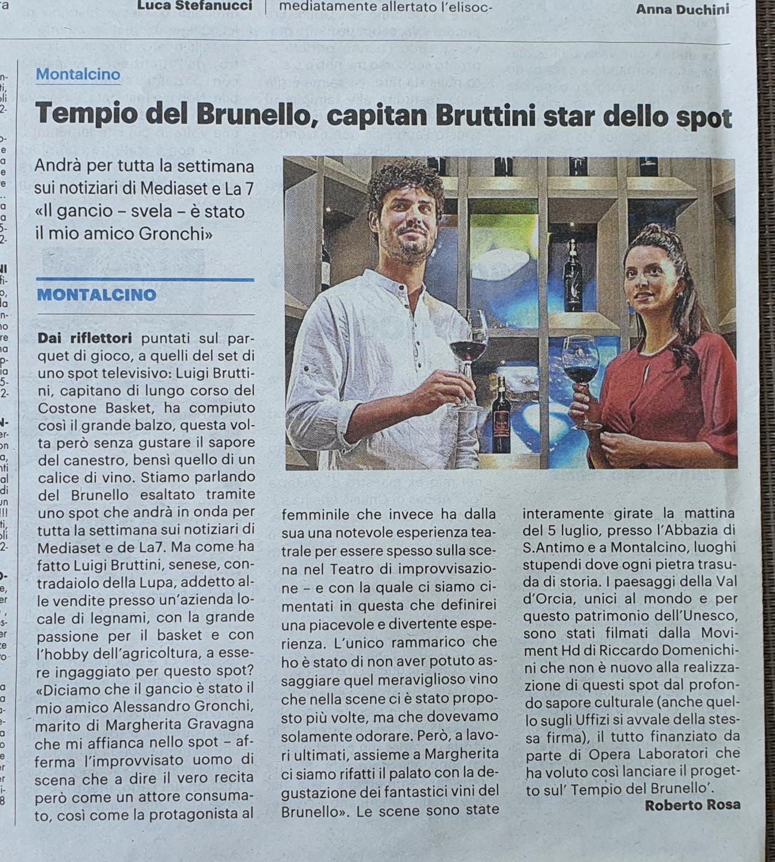 Articolo Spot Luigi Bruttini