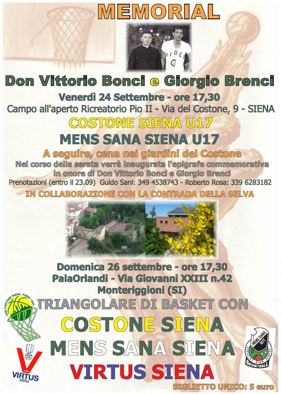 Locandina Memorial Don Vittorio-Brenci
